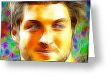 Magical Tim Tebow Face Greeting Card by Paul Van Scott