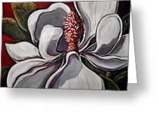 Magnolia Grand Greeting Card by Vickie Warner