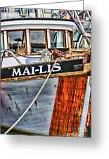 Mai-lis Tug-hdr Greeting Card by Randy Harris