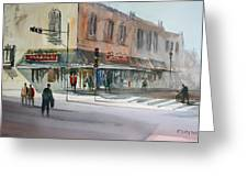 Main Street Marketplace - Waupaca Greeting Card by Ryan Radke
