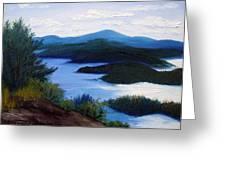 Maine Bay Islands  Greeting Card by Laura Tasheiko