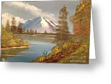 Majestic Mountain Lake Greeting Card by Tim Blankenship
