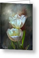 Majestic Tulips Greeting Card by Bonnie Willis