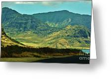 Makua Valley From Yokohama Beach Greeting Card by Craig Wood