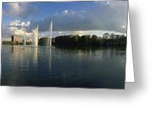 Malmoe Fountains Greeting Card by Jan Faul