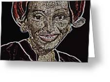 Mama Nura Greeting Card by Duwayne Washington