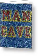 Man Cave Bottle Cap Mosaic Greeting Card by Paul Van Scott