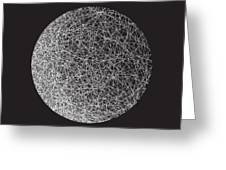 Man In The Moon-shape Greeting Card by Michael Landa