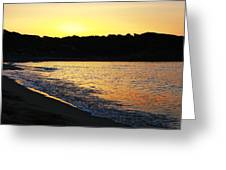 Mandraki Elias Beach Sunset Skiathos Greeting Card by Nick Karvounis