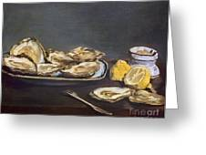 Manet: Oysters, 1862 Greeting Card by Granger