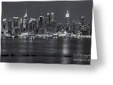 Manhattan Twilight Vii Greeting Card by Clarence Holmes
