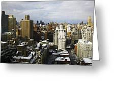 Manhattan View On A Winter Day Greeting Card by Madeline Ellis
