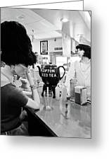 Mannequins At Peggy Sues 50's Diner Greeting Card by Julie Niemela