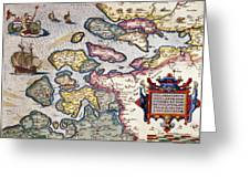 Map Of Zeeland Greeting Card by Abraham Ortelius