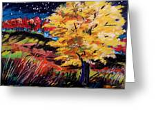 Maple At Night Greeting Card by John  Williams