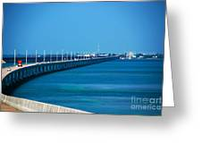 Marathon And The 7mile Bridge In The Florida Keys Greeting Card by Susanne Van Hulst