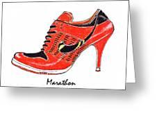 Marathon Greeting Card by Lynn Blake-John