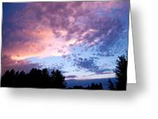 Marble Sky Greeting Card by Kevin Bone