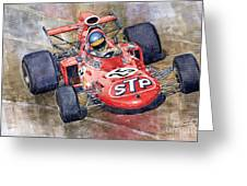March 711 Ford Ronnie Peterson Gp Italia 1971 Greeting Card by Yuriy  Shevchuk