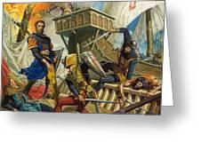Marco Polo Greeting Card by Severino Baraldi