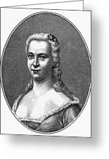 Margareta Moller Klopstock Greeting Card by Granger