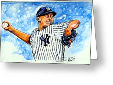 Mariano Rivera Greeting Card by Dave Olsen