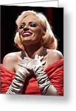 Marilyn Greeting Card by Elizabeth Hart
