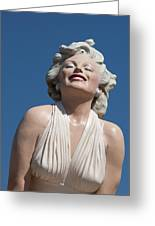 Marilyn In The Sun Greeting Card by Matthew Bamberg