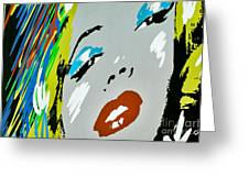 Marilyn Monroe Greeting Card by Micah May
