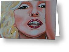 Marilyn Greeting Card by Reneza Waddell