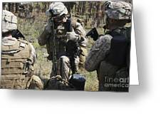 Marines Communicate With Other Elements Greeting Card by Stocktrek Images