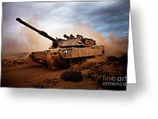 Marines Roll Down A Dirt Road Greeting Card by Stocktrek Images