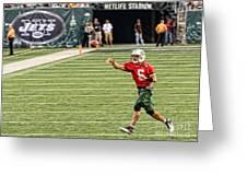 Mark Sanchez Ny Jets Quarterback Greeting Card by Paul Ward