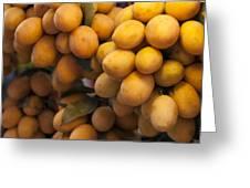 Market Mangoes Greeting Card by Zoe Ferrie