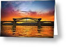 Market Street Bridge Greeting Card by Steven Llorca