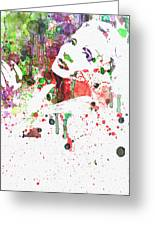 Marlene Dietrich 3 Greeting Card by Naxart Studio