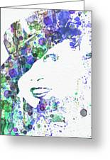 Marlene Dietrich Greeting Card by Naxart Studio
