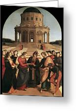Marriage Of The Virgin - 1504 Greeting Card by Raphael