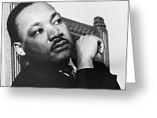 Martin Luther King, Jr Greeting Card by Photo Researchers