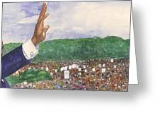 Martin Luther King Jr. Greeting Card by Robert Casilla