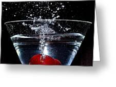 Martini Greeting Card by Carlos Nass