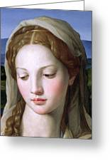 Mary Greeting Card by Agnolo Bronzino