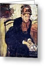 Mary Cassatt (1845-1926) Greeting Card by Granger