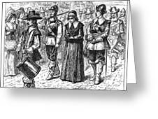 Mary Dyer, D.1660 Greeting Card by Granger