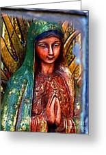 Mary In Repose Greeting Card by Olden Mexico