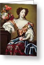 Mary Of Modena  Greeting Card by Simon Peeterz Verelst