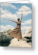 Mary Poppins Greeting Card by Joana Kruse