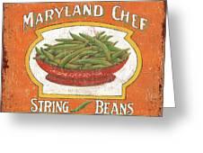 Maryland Chef Beans Greeting Card by Debbie DeWitt