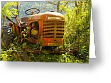 Massey Ferguson Tractor Greeting Card by Nomad Art And  Design