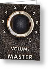 Master Volume Greeting Card by Scott Norris